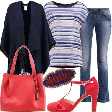 Outfit Righe rosso e blu
