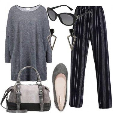 Outfit Minimal geometrico