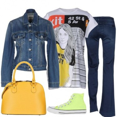 Outfit Giallo t-shirt