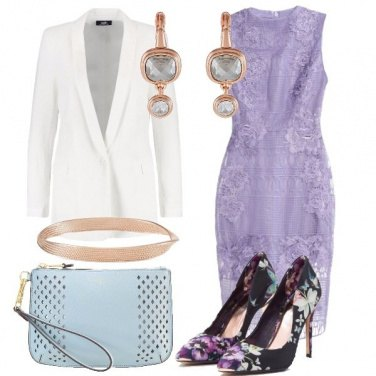 Outfit In lilla e fiori