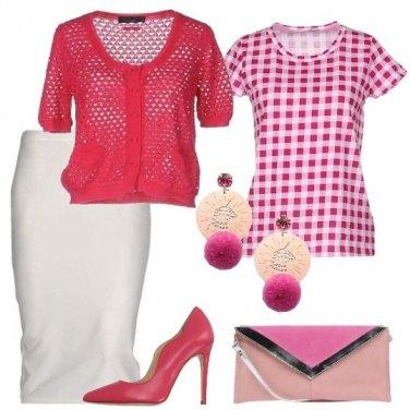 Outfit Quadretti rosa