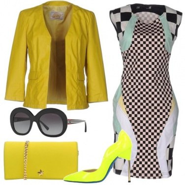 Outfit Scacco giallo