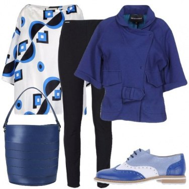 Outfit Geometrie sulla blusa