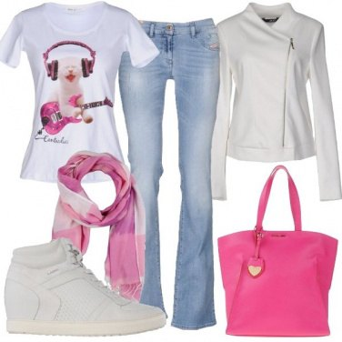 Outfit T-shirt con stampa