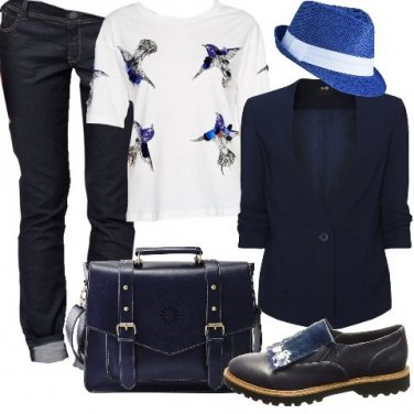 Outfit Mannish in T-shirt