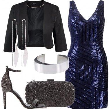 Outfit Blu e nero
