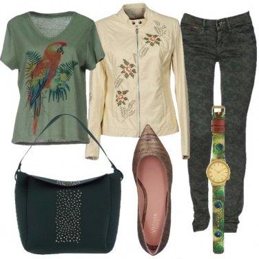 Outfit Fiori e animali