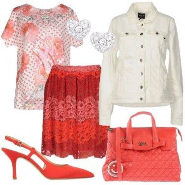 Outfit Romanticamente in rosso