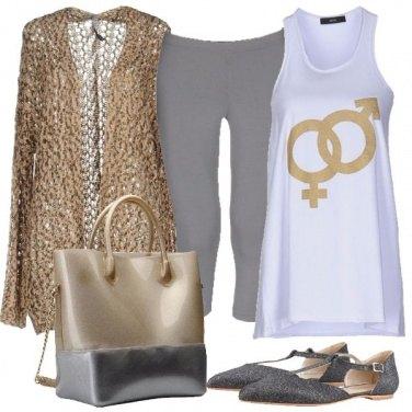 Outfit Argento e oro