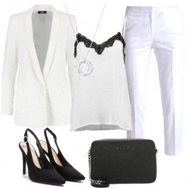 Outfit La classe del bianco e nero