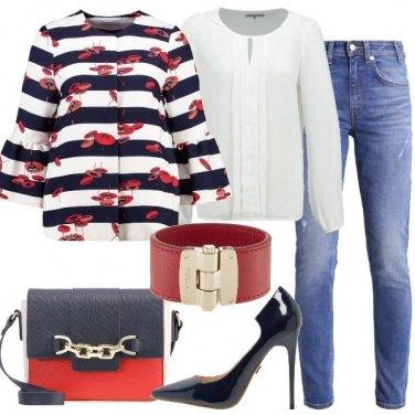 Outfit Jeans e tacco vertiginoso