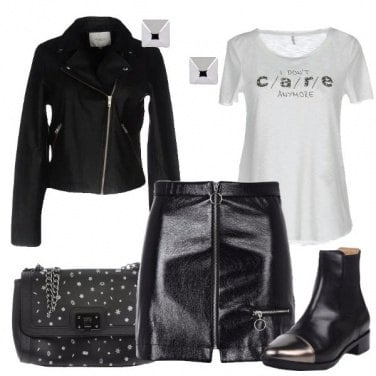 Outfit Rock metalizzato