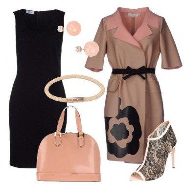 Outfit Elegante in rosa e nero
