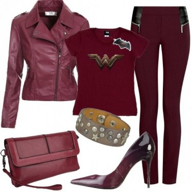 Outfit Wonder Woman rock