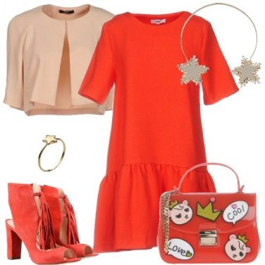Outfit La borsa con le toppine