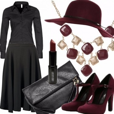 Outfit Autunno in burgundy