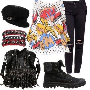 Outfit Rock umoristico