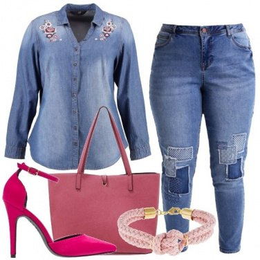 Outfit Curvy in denim