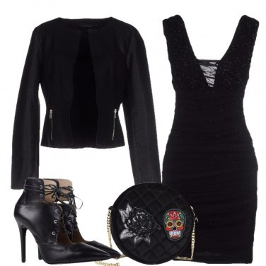 Outfit Rock total black