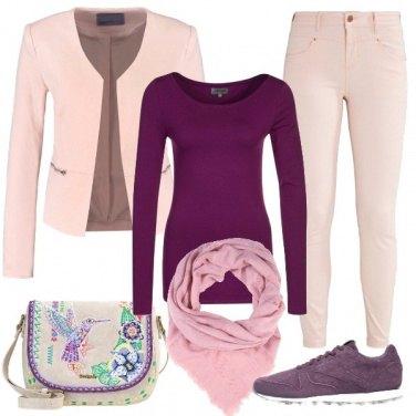 Outfit Viola d\'aprile