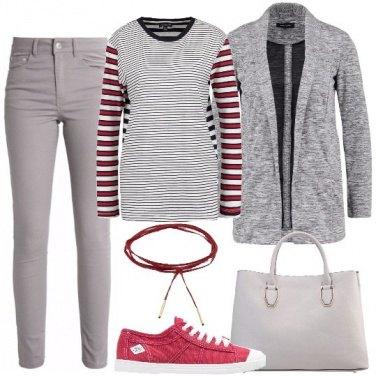 Outfit La maglia a righe