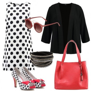 Outfit Curvy a pois