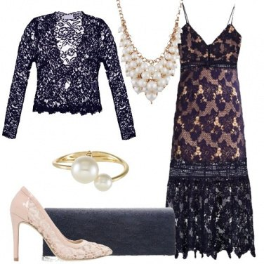 Outfit Il pizzo blu sensuale