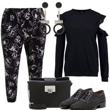 Outfit Trendy in nero e bianco