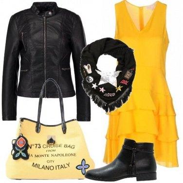 Outfit Il giallo che scalda