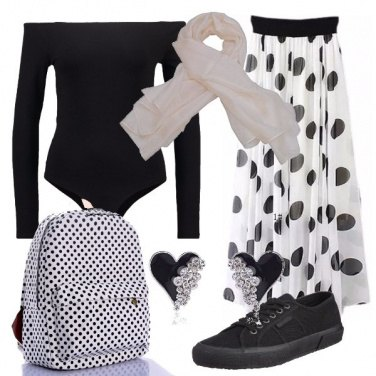 Outfit Un giorno a pois