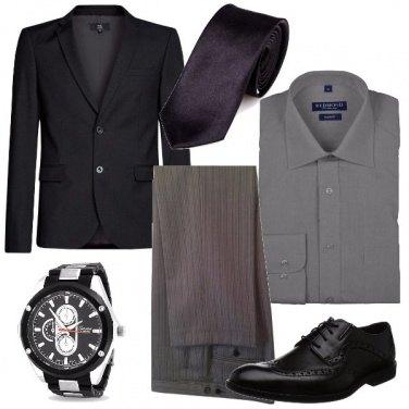 Outfit Cerimonia a righe