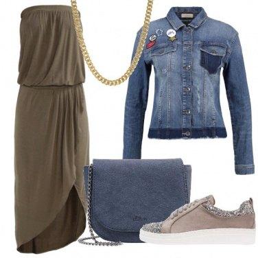 Outfit Vestito lungo in maglina
