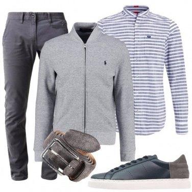 Outfit Camicia e bomber