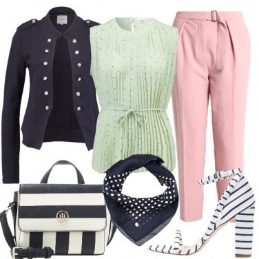 Outfit Righe e pois