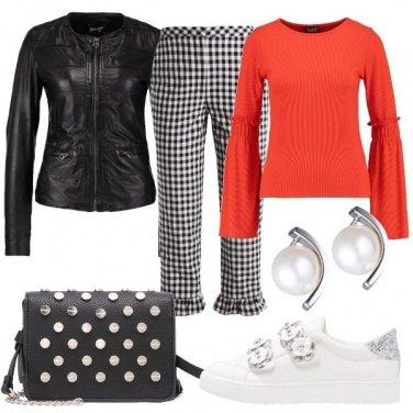 Outfit Colore con il bianco e nero