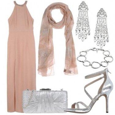 Outfit Rosa cipria per una cerimonia