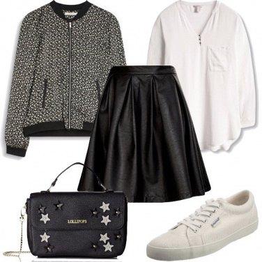 Outfit Oggi in nero e bianco