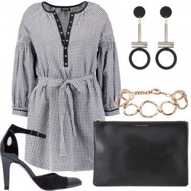 Outfit Chic col quadretto Vichy