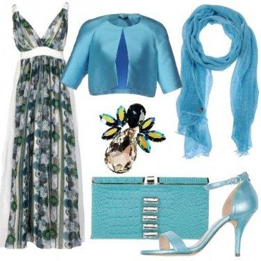 Outfit Mood turchese da cerimonia