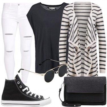 Outfit Semplicemente bianco e nero