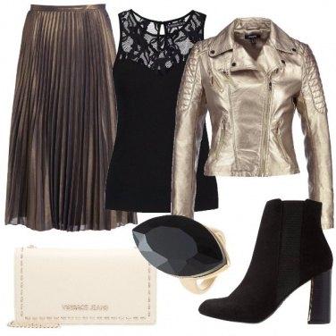 Outfit Stasera plissè