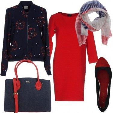 Outfit Rosso anche di giorno