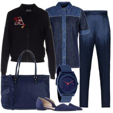 Outfit Blu totale