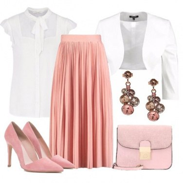 Outfit Plissè in rosa