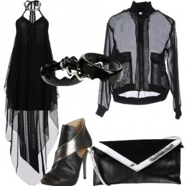 Outfit Il bomber in chiffon