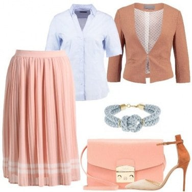Outfit Tenue in plissé