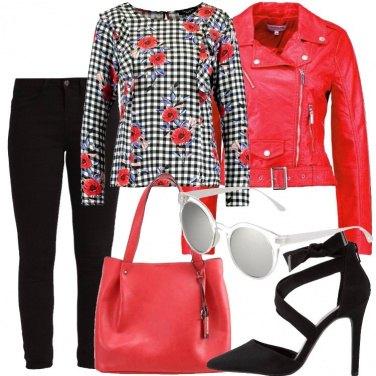 Outfit Papaveri e quadretti