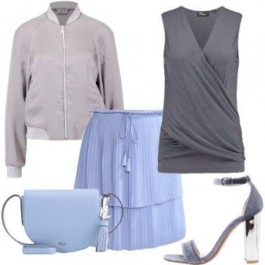 Outfit Incroci e plissé