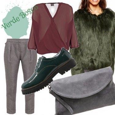 Outfit Verde e peloso!