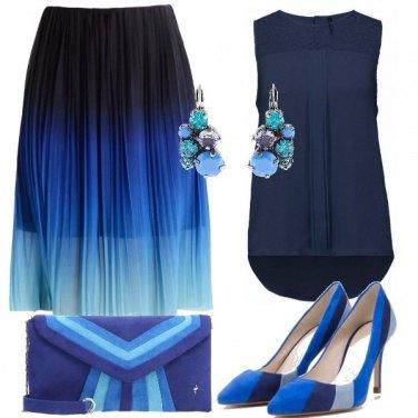 Outfit Blu plissé